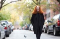 "Grace Coddington, the longtime creative director at Vogue, on West 12th Street in New York. A former model, she has written a memoir entitled ""Grace.""  By Greg Kessler for the New York Times"