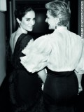 Carolina Herrera with her daughter Carolina Herrera Baez, who is the Creative Director of Carolina Herrera Fragrances.